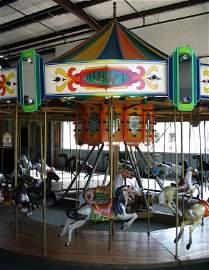 330: Restored Allan Herschell 24 horse carousel