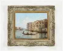 Signed P.Tourrette, O/c 'Grand Canal, Venice', 19th c