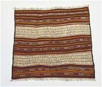 Hand woven wool Persian kilim, 5 x 5