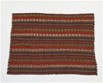 Hand woven wool Persian kilim, 4 x 6