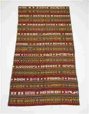 Hand woven Persian wool kilim, 11 x 5