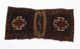 Early 20th c. hand knotted wool Turkeman saddlebag