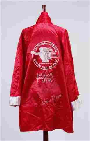 Rare autographed boxing robe w/ COA