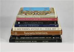 (9) Interior design and antiques coffee table books