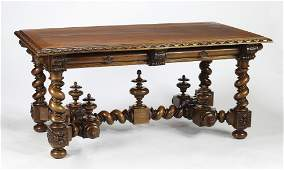 19th c. French Renaissance Revival library table