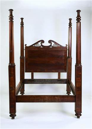 American mahogany four poster bed