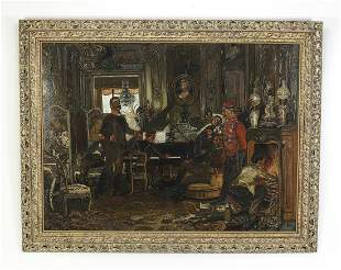 After Anton Von Werner, O/c 'In the Troops Quarters'