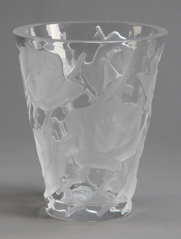 5: Lalique art glass vase