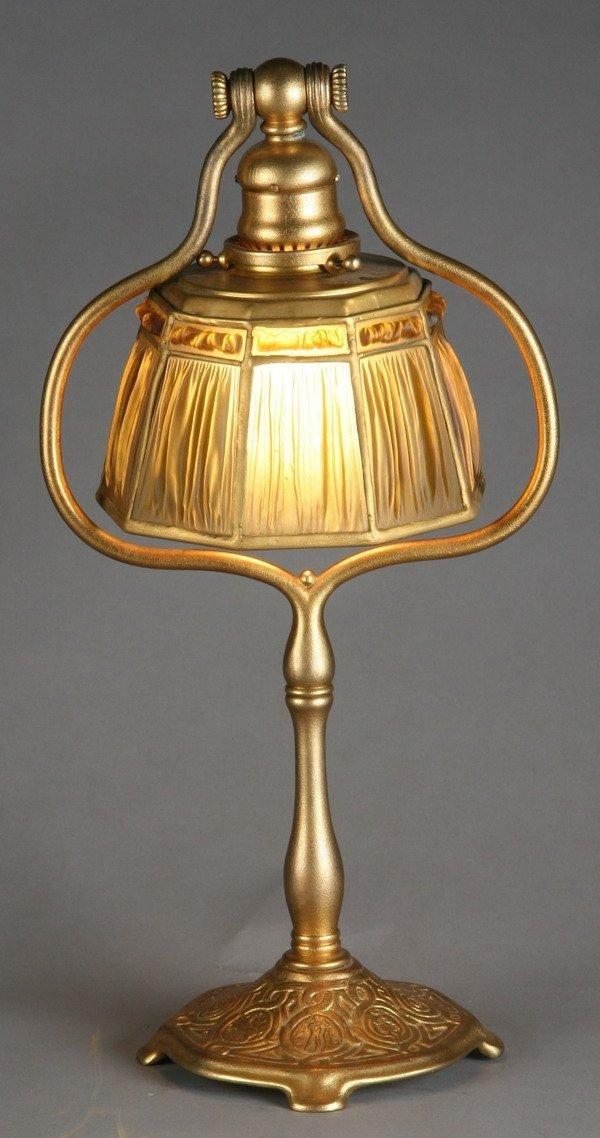 6: Tiffany linen fold lamp