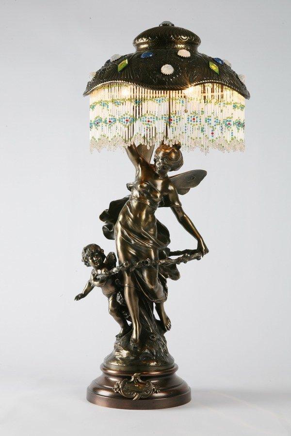 15: 19th c. French Art Nouveau lamp