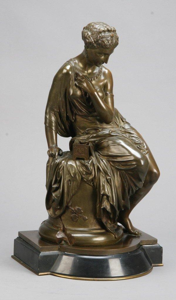18: 19th c. bronze sculpture, signed Jaimson