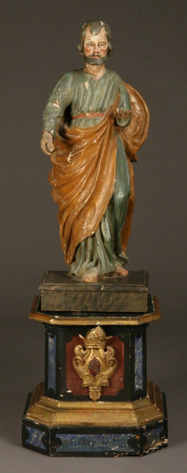 23: 18th c. carved St. Joseph figure