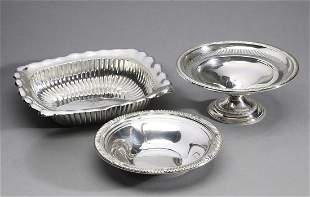 (3) Sterling silver table articles