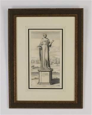 (4) Framed Neoclassical engravings