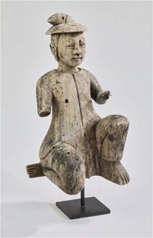 Northern Thai hand carved wood figure