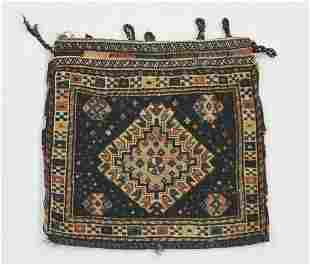 Hand knotted wool pile Persian Afshar bag