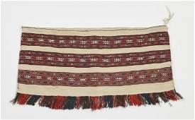 Hand woven wool Persian soumak and kilim bag