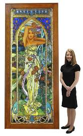 Mark Bogenrief stained glass landing window