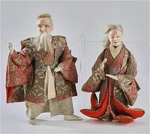 (2) Japanese Gofun dolls of Jotomba, Taisho Period