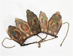 19th c Tibetan Buddhist ritual crown