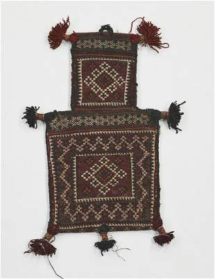 Hand woven wool Afghan Balouch salt bag