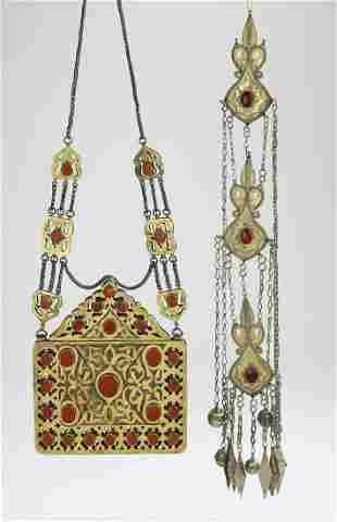 (2 pcs) Tekke or Yomud Turkoman jewelry