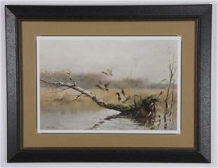 Manfred Shatz (German) signed, numbered lithograph