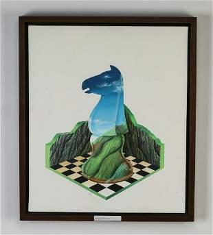Jose Campos Biscardi (Venezuelan) signed abstract