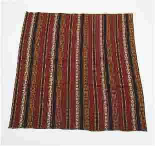 Hand woven wool Persian kilim, 6 x 6