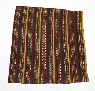 Early 20th c. hand woven Uzbek kilim, 6 x 6