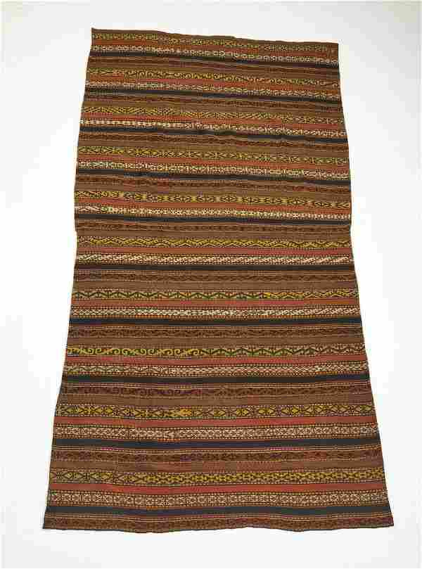 Hand woven wool and cotton Persian kilim, 11 x 6