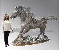 Lifesize bronze sculpture of a horse