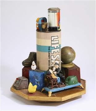 Signed American folk art found object sculpture
