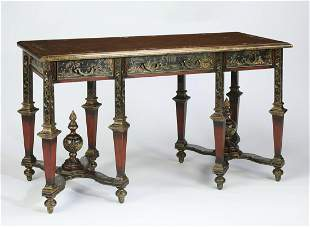 Chinoiserie style paint-decorated console table