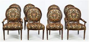(8) Maitland-Smith upholstered chairs