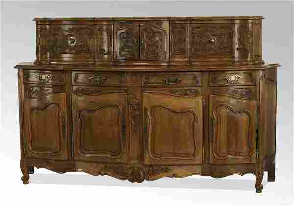Early 20th c. French Provincial style walnut buffet