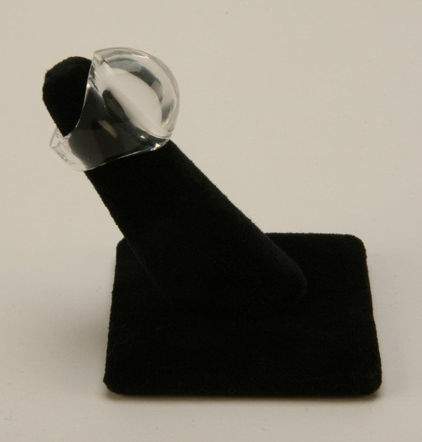 6: French art glass ring, signed Lalique