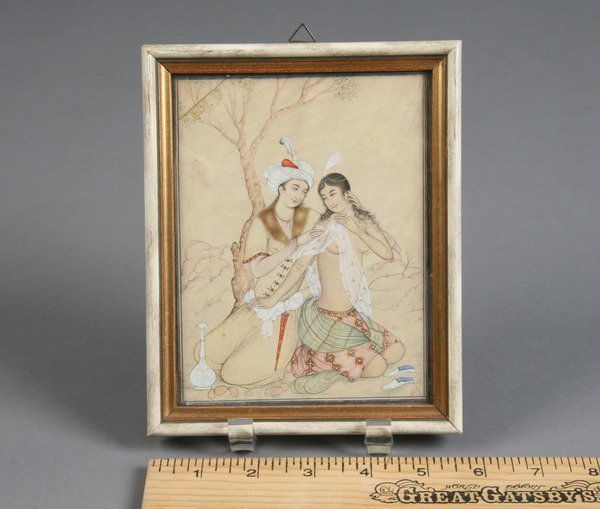 11: Indian miniature illustration, pencil on rice paper
