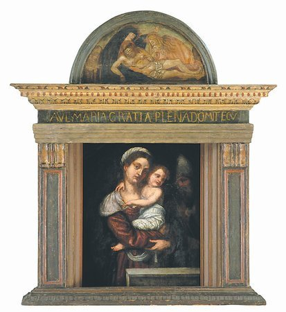 15: 16th century Madonna and Child oil on panel