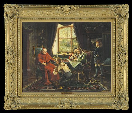 17: 19th c. English oil on canvas, signed F. Roberts