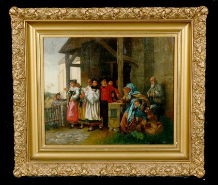 18: 19th century oil on canvas, signed J. Pellegrino