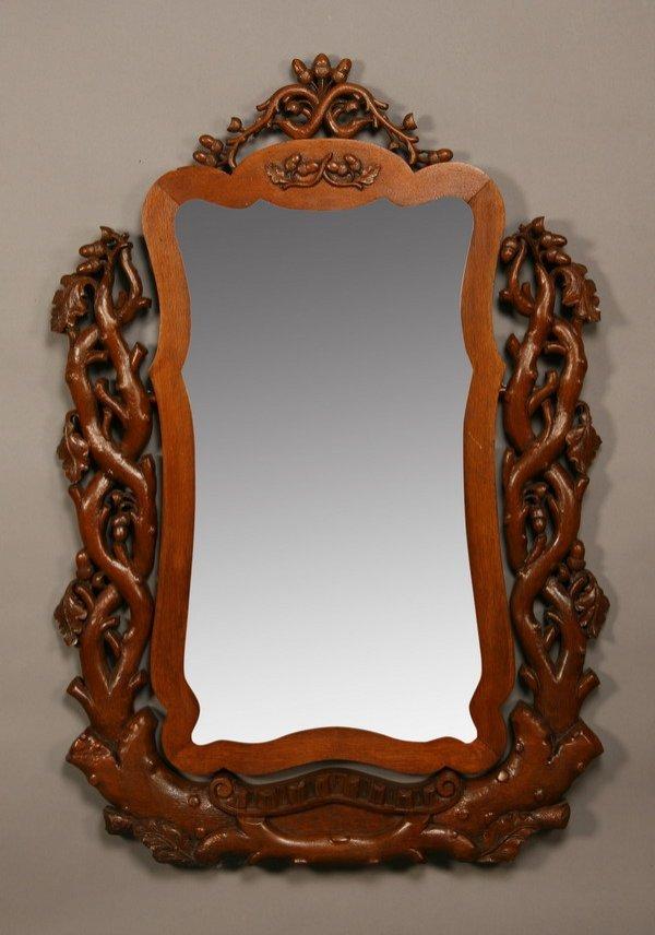 24: 19th century Black Forest dressing mirror