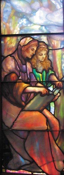 53: Tiffany Studios stained glass window