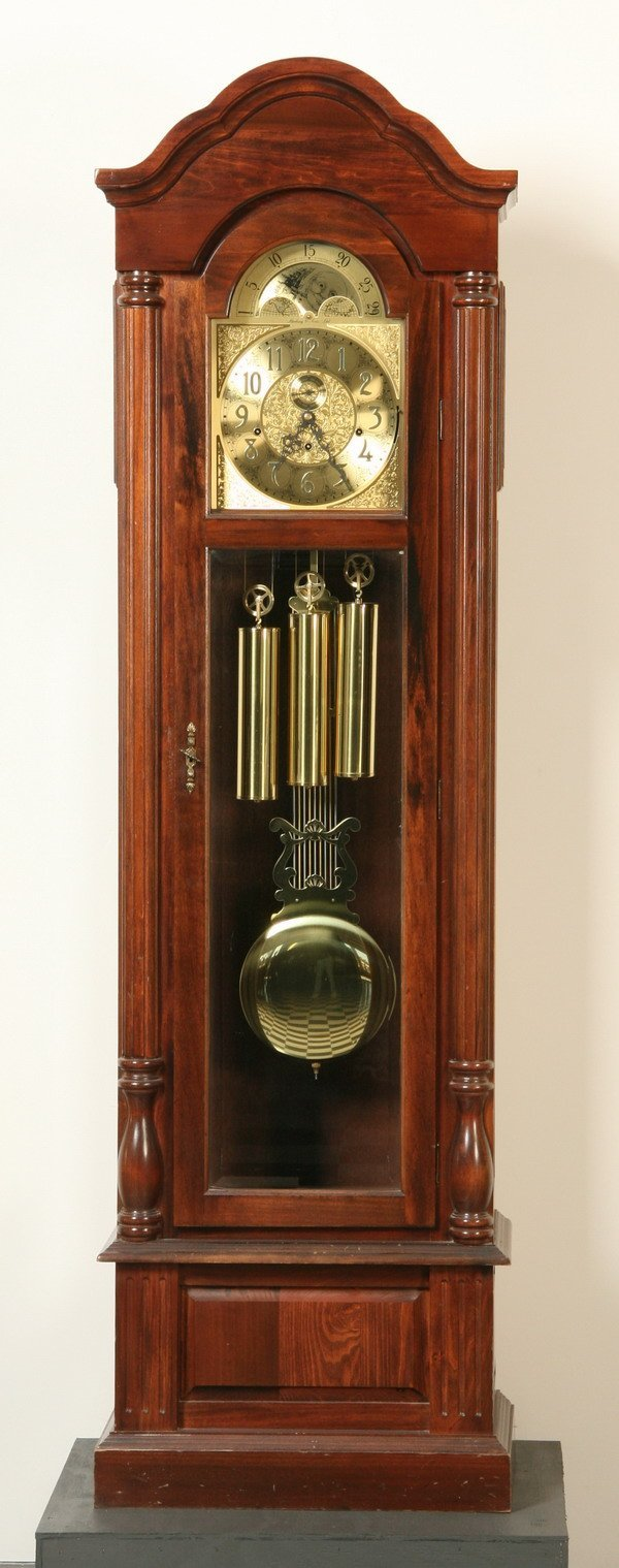 268: American grandfather clock by Sterling & Sons
