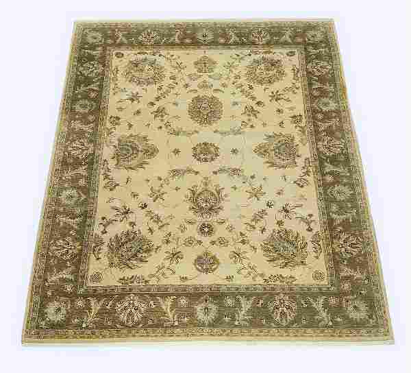 Hand knotted wool Sino-Oushak rug, 10 x 8