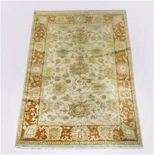 Hand knotted wool Indo-Oushak carpet, 8 x 6