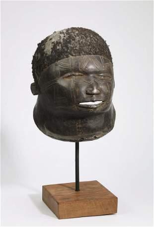 Hand carved wooden Lipiko helmet mask