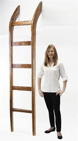 East African carved wood ladder