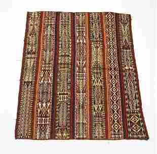 Hand woven wool Uzbek kilim, 7 x 6