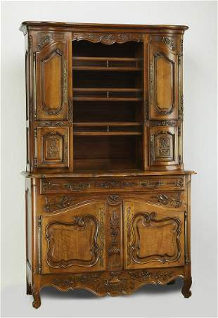 19th c. French Provincial buffet a deux corps